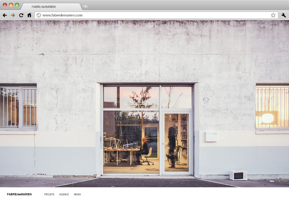 Fabre de Marien architectes site internet studio milk