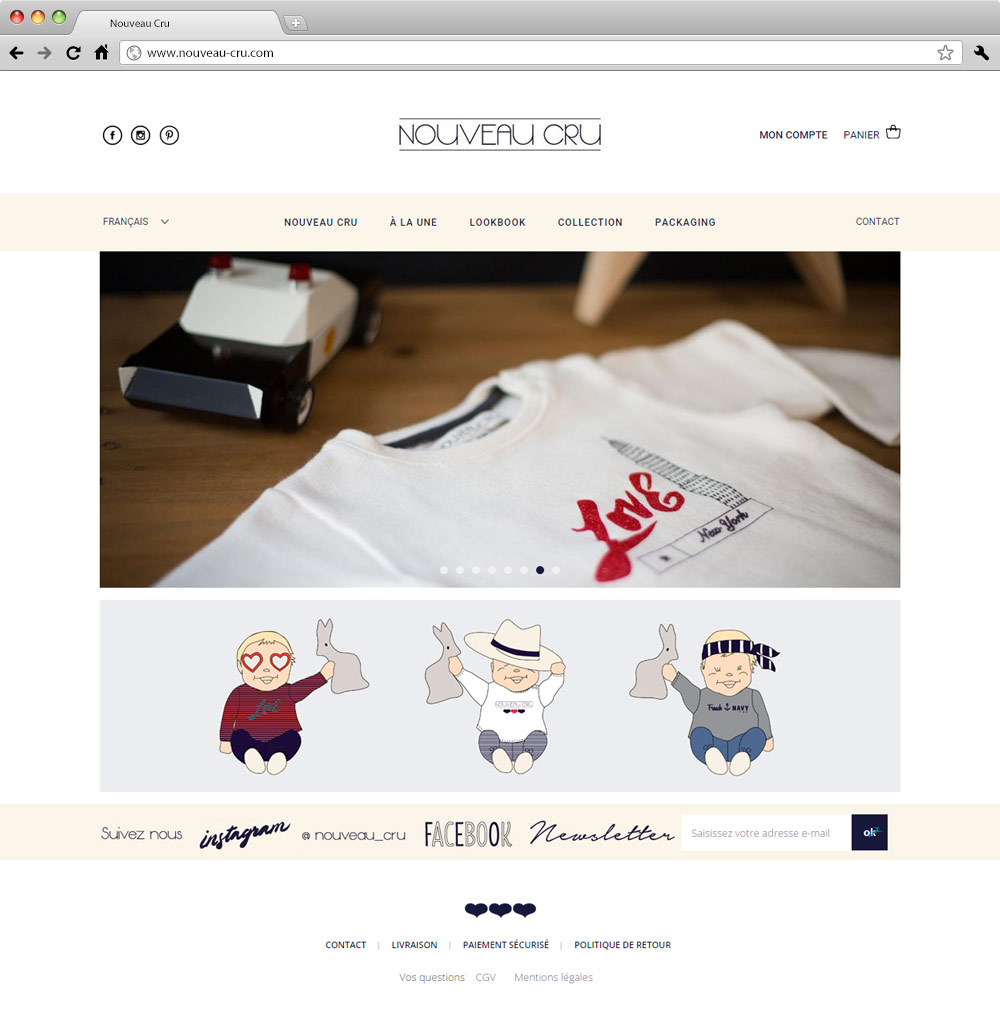Nouveau Cru site internet Prestashop